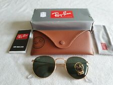 Ray Ban gold round metal frame sunglasses. RB 3447 001. New / boxed.
