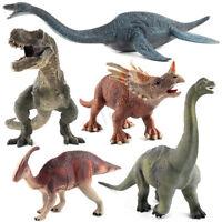 Brachiosaurus Plesiosaur Tyrannosaurus Large Dinosaur Solid Plastic Model Toy