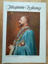 Zar Ferdinand I. grosses farbiges Porträt Original Druck von 1916 WW1