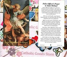 Saint St Michael the Archangel - Police Officer's Prayer  - Paperstock Holy Card