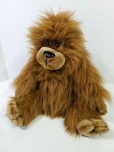 "Dakin Gorilla Plush Silly Gorillie Ape Brown Stuffed Animal 15"" 1990 Vintage"