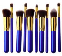 10pcs Make up Brush Set Brushes Marbling Kabuki Professional Blusher Face Powder