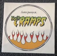 """The Cramps Faster Pussycat French Orig 7"""" PS Punk Psychobilly Misfits New Rose"""