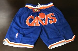 """""""JustDon"""" MITCHELL AND NESS VINTAGE CLEVELAND CAVALIERS SHORTS"""