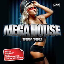 MEGA HOUSE TOP 100 4 CD NEUF AVICII/HARDWELL/BASTO/TIESTO/FIREBEATZ/+