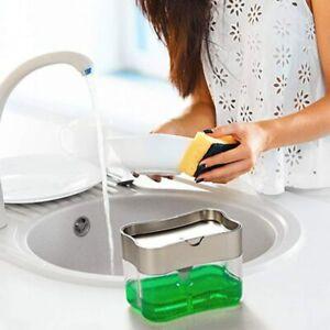2 in 1 Kitchen Soap Dispenser Sponge holder set Soap Pump Liquid Dispenser Dish