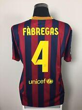 FABREGAS #4 Barcelona Home Football Shirt Jersey 2013/14 (XL)