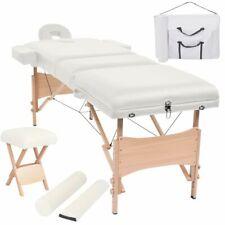 vidaXL Massageliege Hocker 3 Zonen 10cm Polsterung Tragbar Weiß Massagetisch