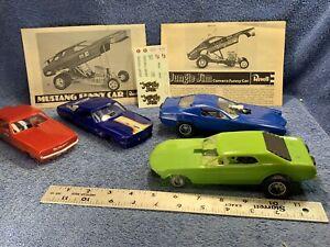 Funny car drag models ~ Jungle Jim / Camaro (s)/  Mustang (s) ~ junk yard LOT