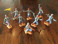 Timpo 2nd Series Confederates - Complete Set - Grey Coats - 1970's