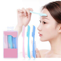 3Pcs Facial Eyebrow Razor Trimmer Shaper Shaver Blade Knife Hair Remover Tool H