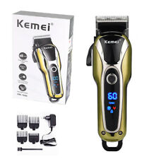 Cordless US Men Electric LCD Hair Clipper Trimmer Haircut Machine Barber Shaver