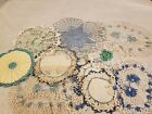 Lot+of+11+Vintage+Hand+Crocheted+Colorful+Doilies+White++cream+