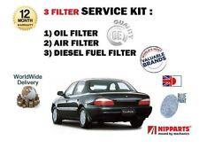 FOR KIA CLARUS 2.0 CRDi 1999-10/2001 NEW OIL AIR FUEL  ( 3 ) FILTER SERVICE KIT