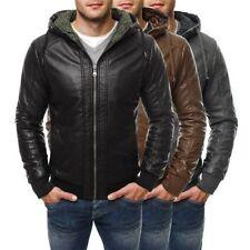 Cappotti e giacche da uomo in pelle con cerniera