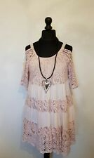 """NEW Stunning """"TIERED COLD SHOULDER"""" Italian LaGeNLooK LINED ~BOHO ~STRAP TOP 44"""""""