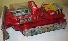 '60s Nomura Japan Tin Litho Magic Action Bulldozer, Battery Op