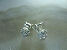 Modische 7 mm Shamballa Style Zirkonia Glitzer Ohrstecker Earrings