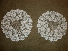 New White lace Christmas design Table Doily's set of 2