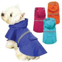 DOG RAIN COAT Waterproof Vinyl Slicker Guardian Gear Puppy Pet Reflective Jacket