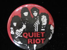 Quiet Riot-Group Shot-Lg.Red-Rock-Pin Badge Button-80's Vintage-Rare