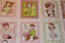 LORALIE On the Mend FABRIC PANEL 18 BLOCKS per panel Breast Cancer Fabric blocks