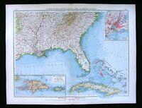 1900 Times Map United States Georgia Alabama Florida Cuba New York City Plan