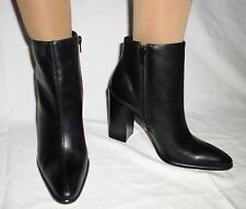WOMAN BLACK LEATHER ANKLE BOOTS BAKERS SIZE 7.5 NEW $99