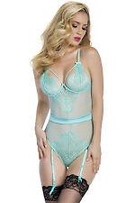 Luz Azul Lace Bustier Lencería erótica Ropa Polo Bailarina Elaborado Vestido Talla S M L
