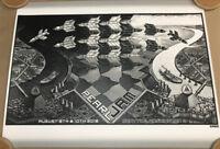 PEARL JAM SEATTLE 2018 POSTER: EMEK! SOLD OUT. MC Escher. Not Missoula, Wrigley