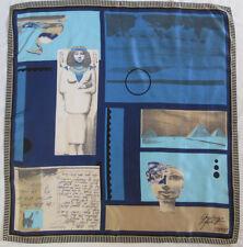 -Superbe Foulard  ESPRIT   soie TBEG  vintage Scarf  75 x 77 cm