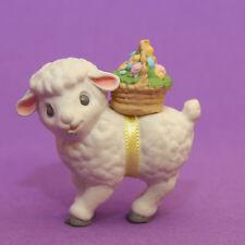 Hallmark Merry Miniature Easter 1989 Lamb w/ Egg Basket Qsm1545