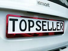 2 x Kennzeichenhalter Nummernschildhalter Rot Chrom Metallic Autozubehör Auto