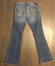 Seven 7 For All Mankind A-Pocket Flare Jeans Vintage Light Size 29 MSRP $129