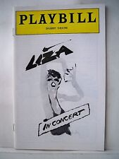 LIZA IN CONCERT Playbill LIZA MINNELLI Shubert Theatre PHILADELPHIA PA 1979