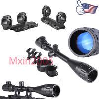 US 6-24x50AOEG Mil Dot/Rangefinder Rifle Scope/QD Scope Mount for Hunting Alum