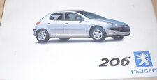 Italienische Betriebsanleitung Peugeot 206 Stand 1999 Guida d`uso Mappe mit 2 He