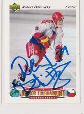 91/92 Upper Deck Robert Petrovicky Team Czechoslovakia Autographed Hockey Card