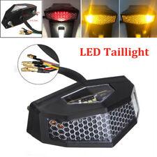 DC 12V Motorcycle LED Turn Signal Tail Light Cafe Racer Fender Edge Brake Light