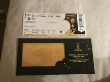Ticket avec pochette WC 2018 FINAL France - Croatia  Hospitality NON PLIER