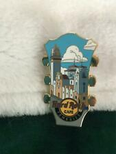 Hard Rock Cafe Pin Tenerife Hidden Guitar Series ~ Headstock w Old Town View