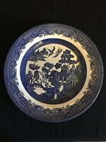 "Vintage Churchill Made In England 10 1/4 "" Blue Willow Dinner Plate Excellent"