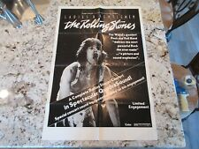 Ladies and Gentlemen The Rolling Stones 1973 Original 1 Sheet Movie Poster  RARE