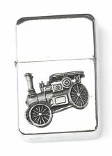 Steam Engine Emblem Windproof Petrol Lighter FREE ENGRAVING Personalised Gift