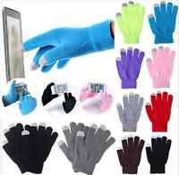 Unisex Magic Touch Screen Gloves Smart Phone Tablet Winter Knit Warmer Mittens S