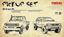 Meng 1:35 Pick Up Truck Set (1 two-door & 1 four-door) Plastic Model Kit #VS007