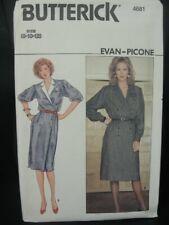 Butterick Sewing Pattern Evan Picone Dress Misses 4681 Size 8-10-12 Uncut