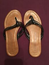Black Thong Flip Flops