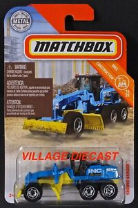 2019 Matchbox #39 Ground Grinder™ BLUE / YELLOW / INC CONSTRUCTION / MOC