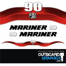 Mariner 90hp 4 stroke outboard decals/sticker kit